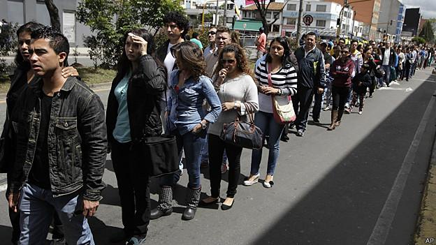 Centro de votación en Colombia
