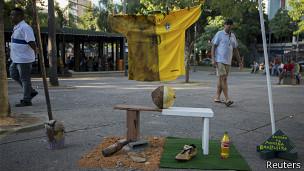 Protestas cerca del Maracaná