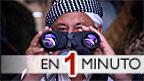 Hombre iraquí con binoculares