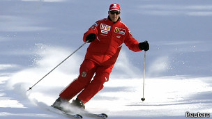 Schumacher esquiando en 2006