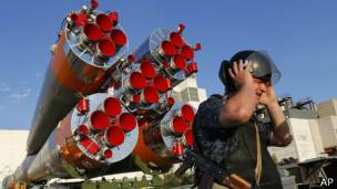 Cohete en Baikonur