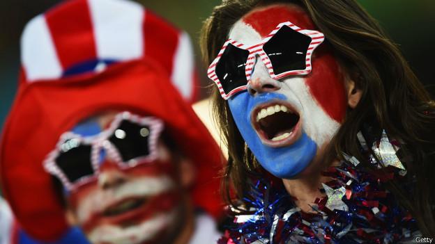 Torcedores dos EUA na Arena das Dunas, em Natal | Crédito: Getty