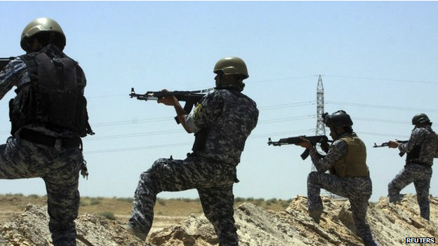 Tropas del ejército iraquí