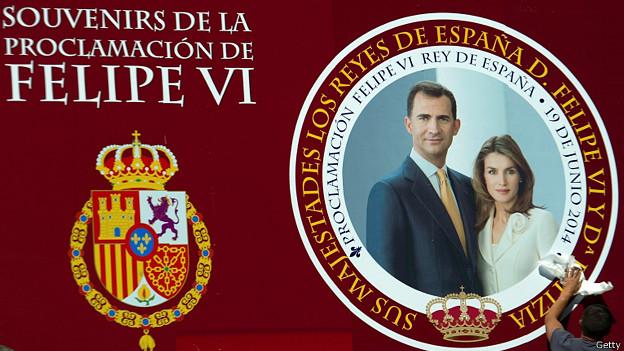 Afiche de la proclamación de los nuevos reyes