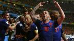 Holanda comemora vitória contra Espanha