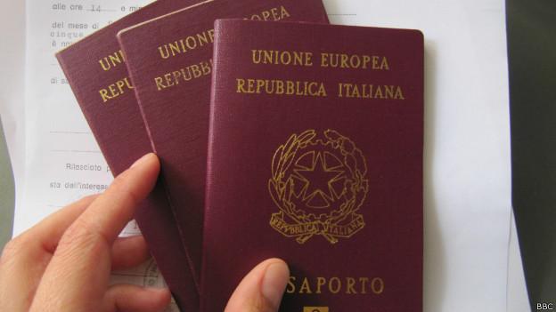 Passaporte italiano (BBC)