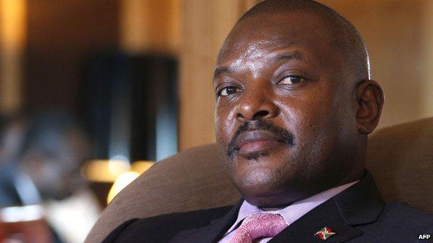 布隆迪总统皮埃尔·恩库仑齐扎(Pierre Nkurunziza)