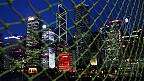 香港中环金融区夜景(资料照片)