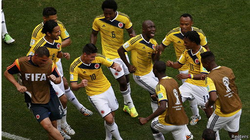 كولومبيا تفوز على كوت ديفوار 2-1 في المجموعة 3 بكأس العالم