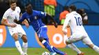 Balotelli em jogo da Itália contra a Inglaterra