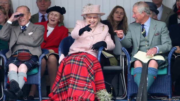 Королевская семья на традиционных спортивных состязаниях