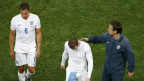 Jogadores ingleses após derrota para Uruguai (Reuters)