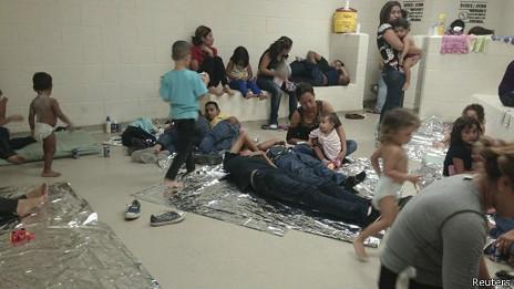 Centro de acogida de indocumentados en EE.UU.