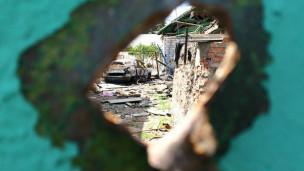 Destruição em Makarove, no leste da Ucrânia (BBC)