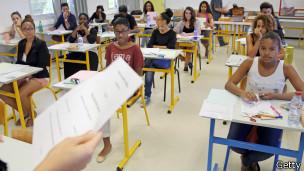 Un aula en Francia