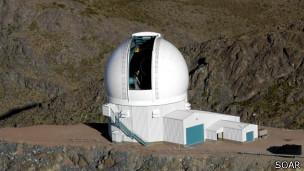 Telescopio de Investigación Astrofísica del Sur, en Chile