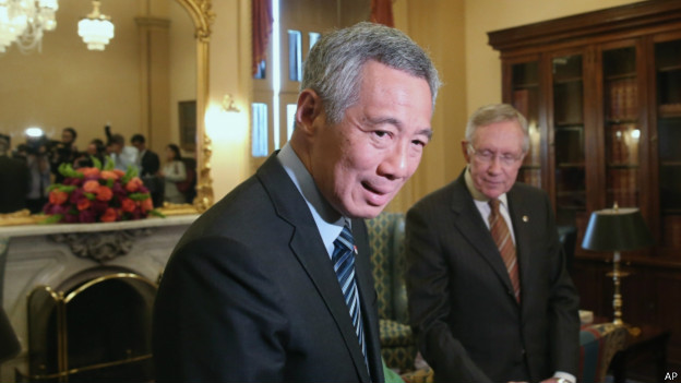李显龙访问美国国会