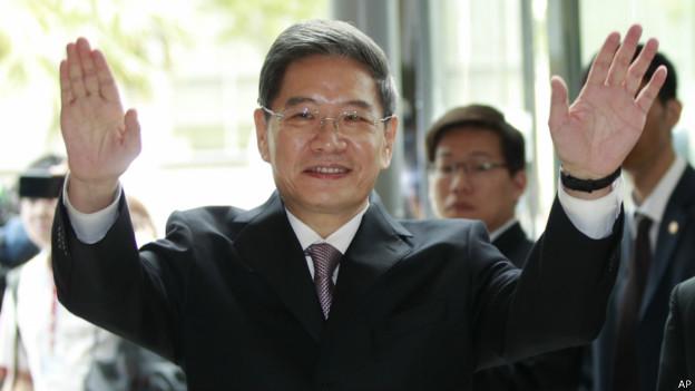 张志军已抵达台北(25/06/2014)