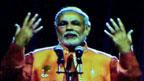 Hologram of India's prime minister, Narendra Modi