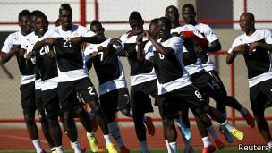Entrenamiento Ghana