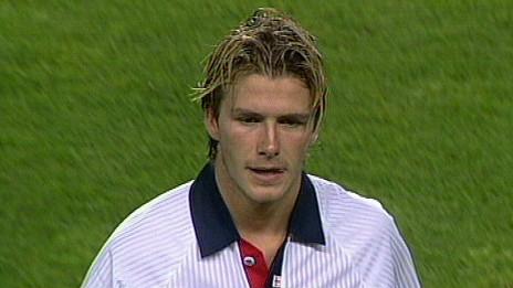David Beckham, en 1998