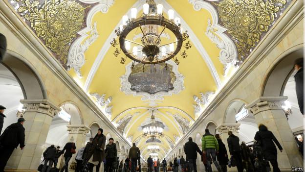 Estación de Komsomólskaya en Moscú