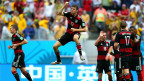 Thomas Muller comemora gol marcado contra os Estados Unidos