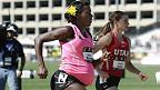Atleta corre los 800 metros embarazada de 34 semanas