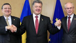Порошенко, Баррозу, Ромпей