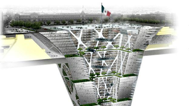 Prédio subterrâneo no México (BBC)