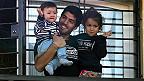 Lusi Suárez con sus hijos