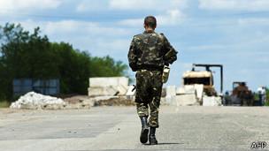 Soldado separatista prorruso en el este de Ucrania