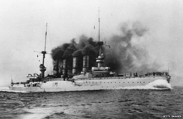 El buque de guerra alemán SMS Scharnhorst