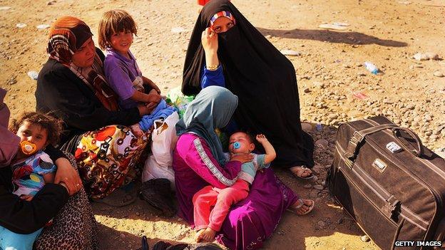 Desplazados iraquíes