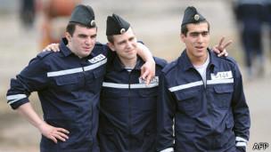 Marineros rusos en Francia
