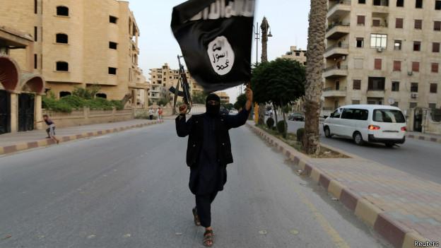 Combatiente de ISIS (hoy llamado Estado Islámico) en Siria