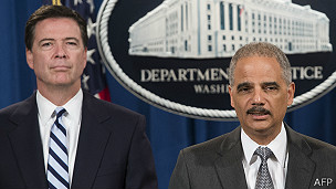 Eric Holder y James Comey