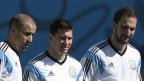 Treino da seleção argentina