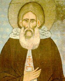 Сергий Радонежский (изображение на покрове XV века)