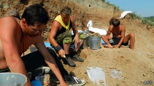 Paleontólogos en Siberia