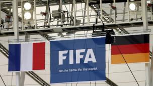 Bandeiras da França e Alemanha penduradas no Maracanã Foto Reuters