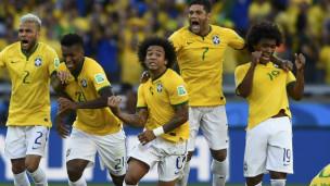 jogadores no final do jogo contra o Chile | Reuters
