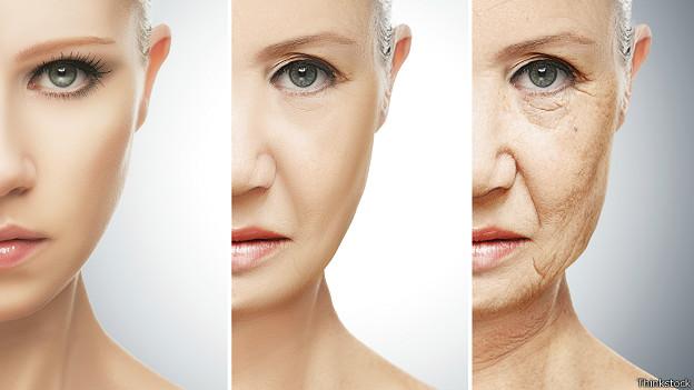 Процесс старения на примере женского лица