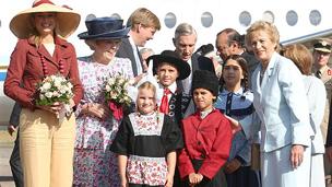 Visita de la Reina Beatriz de Holanda a Tres Arroyos