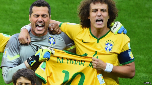Jogadores do Brasil levaram a camisa de Neymar