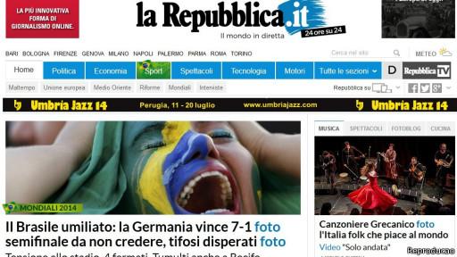 La Repubblica (Reprodução)
