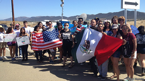 Manifestación en Murrieta, California