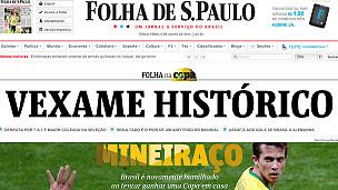 Portada de Folha de Sao Paulo