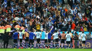 Argentina celebra vaga para a final após vencer a Holanda