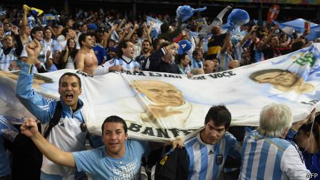 Hinchas de Argentina